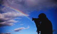 Silhouette Under The Rainbow