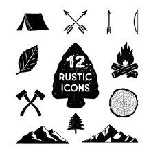 Vintage Nature Icons
