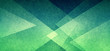 Leinwandbild Motiv Abstract geometric background in green with texture, layers of triangle shapes in modern art style background design