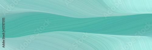 Canvastavla modern horizontal header with sky blue, pastel blue and cadet blue colors