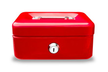 Blue Metal Cash Box Or  Iron M...