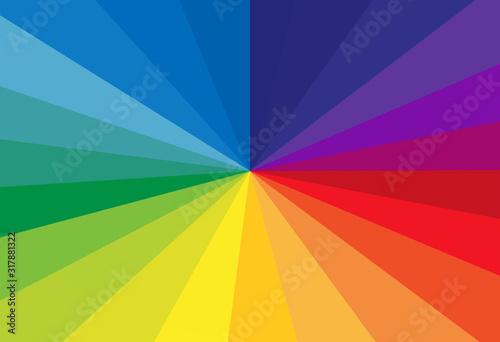 Obraz rayonnement arc-en-ciel  - fototapety do salonu