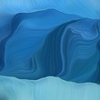 square graphic background with teal blue, sky blue and corn flower blue color. abstract waves illustration
