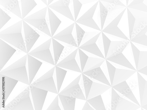 Abstract white polygonal pattern, background texture - 317882998