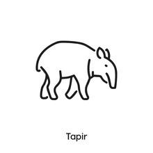 Tapir Icon Vector. Tapir Icon Vector Symbol Illustration. Modern Simple Vector Icon For Your Design. Tapir Icon Vector