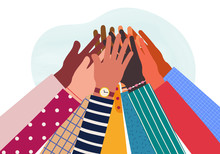 Hands Of Diverse Group Of Peop...