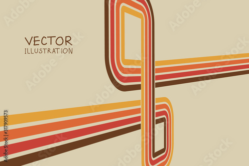 Background with color lines. Vector illustration eps 10 Poster Mural XXL