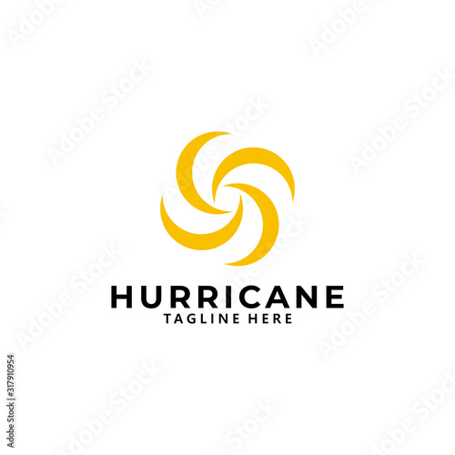 hurricane logo icon vector isolated Canvas Print