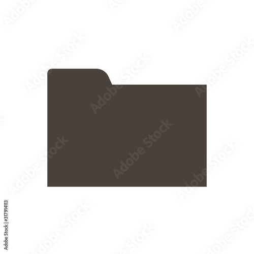 Photo folder with files.vector