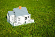 Miniature House With White Pic...
