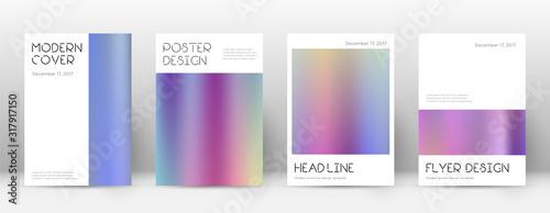 Fototapeta  Flyer layout. Minimal stunning template for Brochu