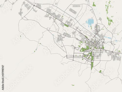 map of the city of Ashgabat, Turkmenistan Canvas Print