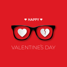 Happy Valentines Day. Black Hi...