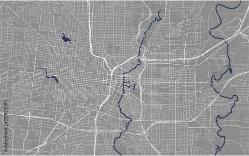 Photo map of the city of San Antonio, Texas, USA