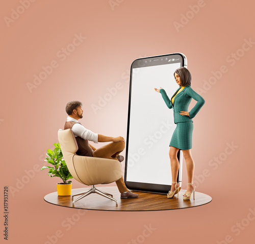 Application and social media concept. #317933720