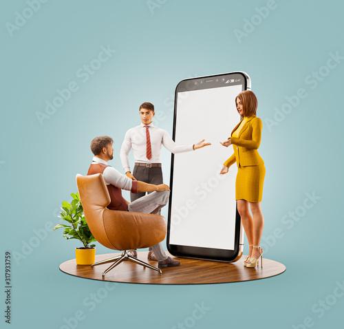 Application and social media concept. #317933759
