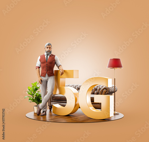 5G network wireless systems. #317933762