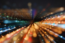 DEFOCUSED IMAGE OF ILLUMINATED...