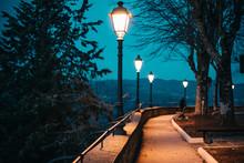 ILLUMINATED STREET LIGHTS AT N...