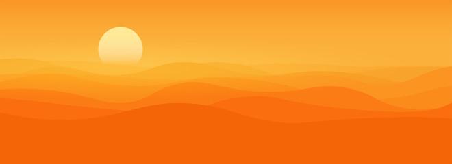 Sea of sand landscape and desert dunes
