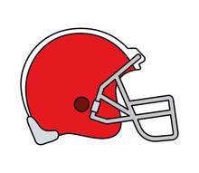 American Football Helmet Vector Design