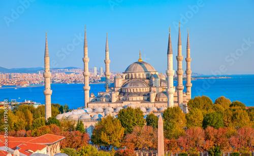 Canvas Print The Blue Mosque (Sultanahmet) - Istanbul, Turkey