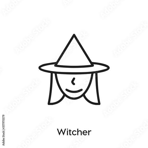 Obraz na plátně witcher icon vector . witcher symbol sign