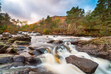The Falls Of Dochart At Killin...