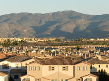 Houses And The Mountain, Chula Vista, California, USA