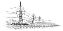 High Voltage Power Line Towers...