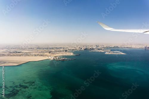 Obraz na plátně Flight over Persian Gulf