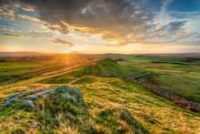 Hadrians Wall In Northumberland