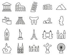 Landmarks Of The World Icons B...