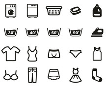 Laundry Or Washing Clothes Ico...