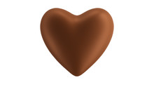 Heart Chocolate Isolate On Whi...