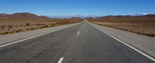 Desert Road At Road 40, The Famous Roadway That Crosses All Argentina
