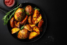 Tasty Baked Potato With Spices...