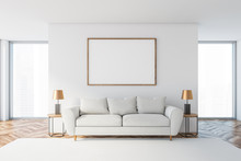 White Living Room With White S...
