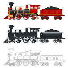 Vintage Steam Locomotive Train...