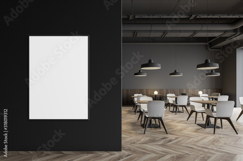 mata magnetyczna Industrial style restaurant with poster