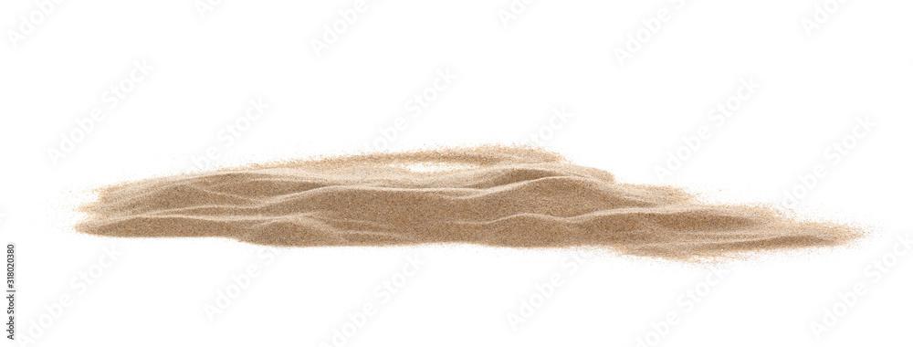 Fototapeta pile desert sand isolated on white background