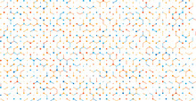 Abstract Digital Vector Background With Texture From Hexagons, Lines And Dots.