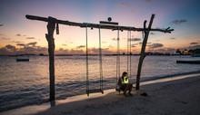 Wooden Swing On The Beach At S...