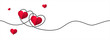 Happy Valentine's Day greeting card design. illustration - Vector.
