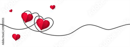 Obraz Happy Valentine's Day greeting card design. illustration - Vector. - fototapety do salonu