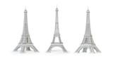 Fototapeta Fototapety z wieżą Eiffla - White Eiffel Tower isolated.