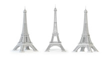 White Eiffel Tower Isolated.