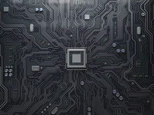 PU Chip On Circuit Board. Blac...