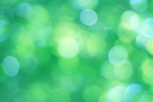 Abstrac Green Bokeh Background