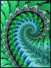 Green Abstract Seaweed Theme Fractal Design
